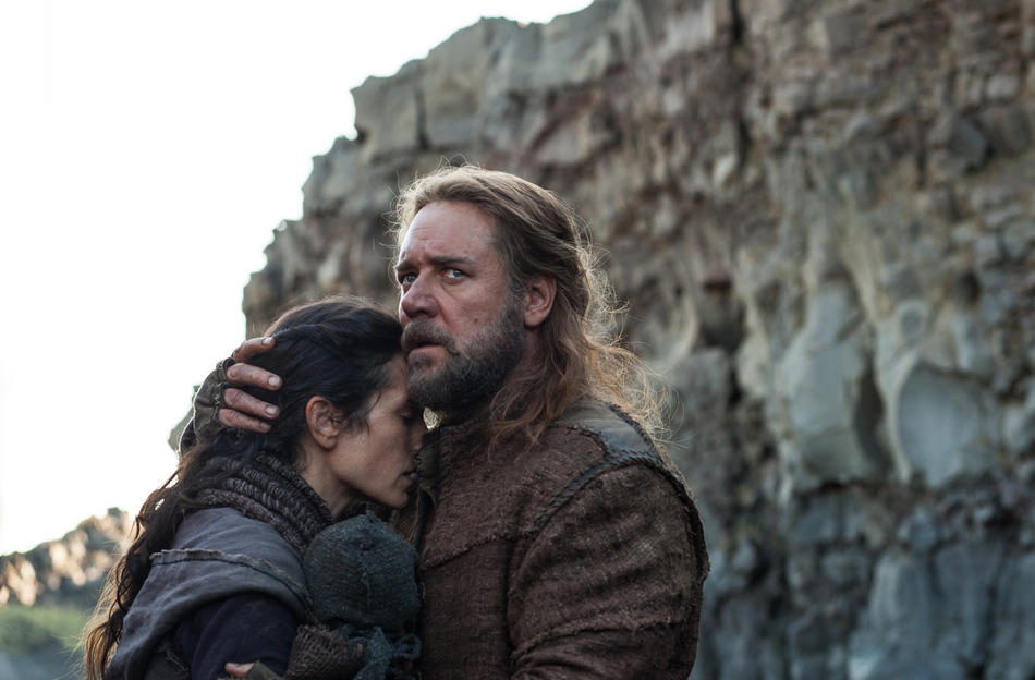 (Left to right) Jennifer Connelly is Naameh and Russell Crowe is Noah in NOAH from Paramount Pictures and Regency Enterprises.